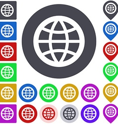 Globe Icon Set vector