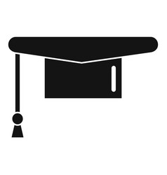 Graduated hat icon simple style vector