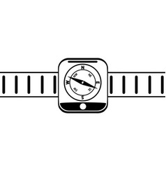 graphic drawing of modern wrist electronic watch vector image