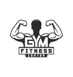 gym logo template vector image