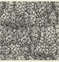 Hand drawn hop cones vector