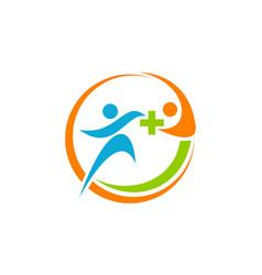health solution logo design template vector image