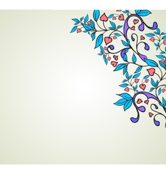 Hearts and swirls on on a light background vector image