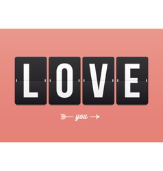 I love you mechanical panel letters vector image