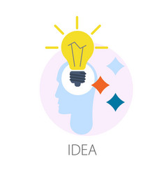 idea thought creativity isolated icon invention vector image