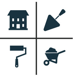 Industry icons set collection of home paint vector