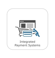 Integrated Payment Systems Icon Flat Design vector image