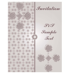 Invitation card with vintage floral ornaments vector