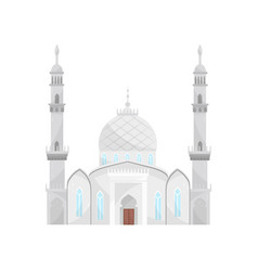 islamic mosque religious temple building vector image