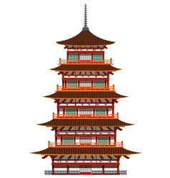 Japanese pagoda building vector