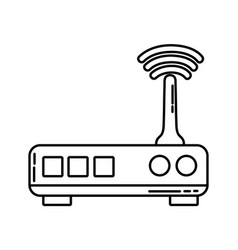 Line router digital wifi technology network vector
