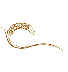 Logo wheat vector