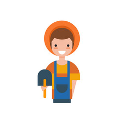 male farmer with shovel gardener vector image