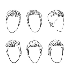 Man hair Hand drawn hipster fashion beard vector