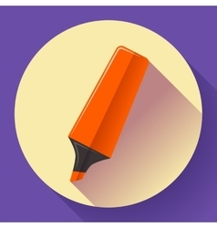 Marker icon Highlighter symbol Flat vector image