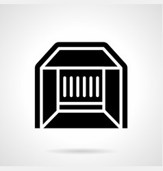 market stall glyph style icon vector image