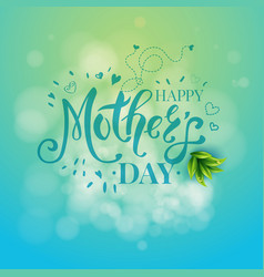 mothers day graphic template vector image