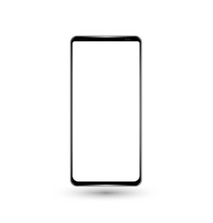 new frameless phone front black drawing vector image