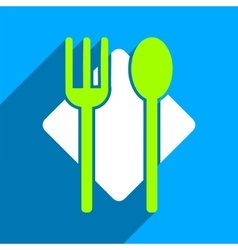 Nutrition Flat Square Icon with Long Shadow vector
