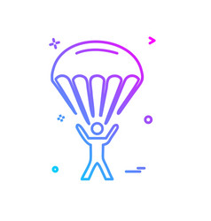parachute icon design vector image