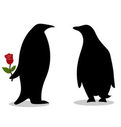 penguin friendship symbol loyalty love vector image