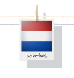 Photo of netherlands flag vector