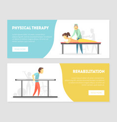 Physical therapy rehabilitation landing page vector