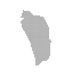 Pixel map of dominica dotted map of dominica vector