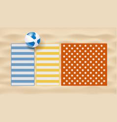 realistic beach mats vector image