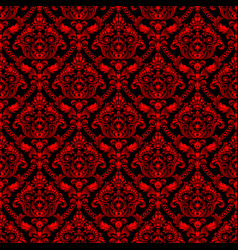 red shining vintage seamless pattern background vector image