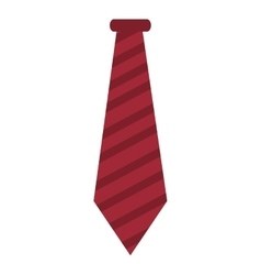 red striped necktie vector image