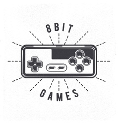 Retro 8 Bit Video Game Joystick vector image