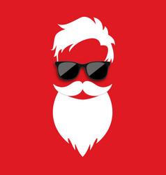 Santa claus hat and beard vector