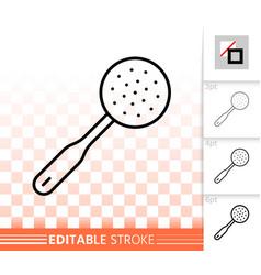 skimmer simple black line icon vector image