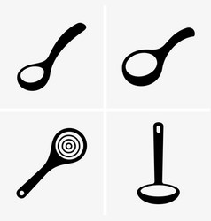 Soup ladles vector