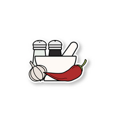 Spices patch vector
