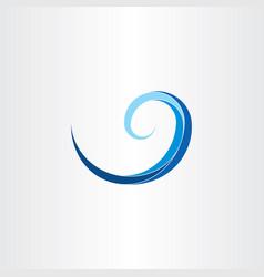 Spiral water wave clip art vector