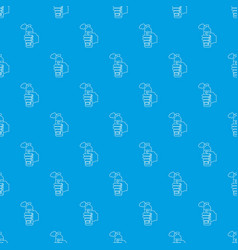 spray insects pattern seamless blue vector image