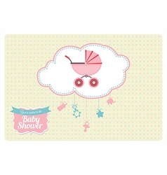 Sweet Baby Shower Invitation Card Design vector image