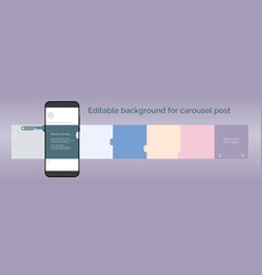 Template for carousel post in social network vector