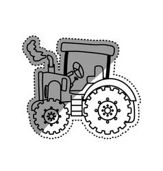 Tractor farm machinery vector