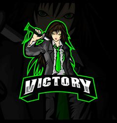 Victory logo esports vector