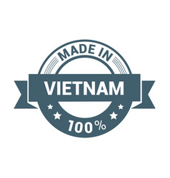 vietnam stamp design typography vector image