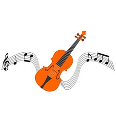 Violin and Stave vector image