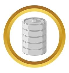 Aluminum barrel for beer icon vector