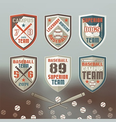 Baseball sport emblem vector