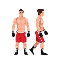boxer man sportsman games flat vector image vector image