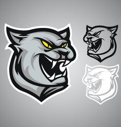 cat panther logo emblem vector image vector image
