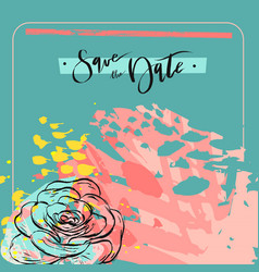 hand made creative universal floral art poster in vector image