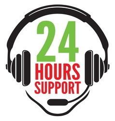 24 hours support1 vector image vector image